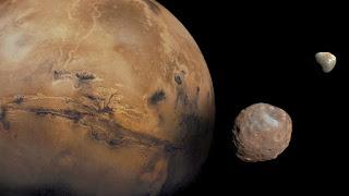 Αποτέλεσμα εικόνας για Οι δορυφόροι του πλανήτη Άρη φτιάχτηκαν όπως η Σελήνη