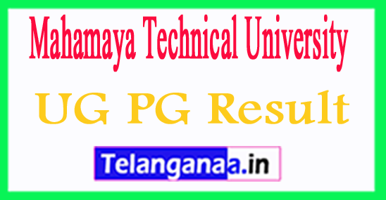 MTU Result 2018 Mahamaya Technical University Results