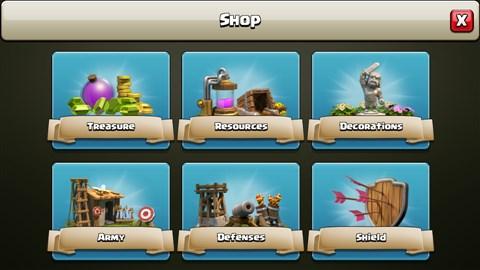 COC Shop