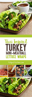 Thai-Inspired Turkey Mini-Meatball Lettuce Wraps found on KalynsKitchen.com