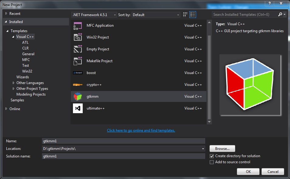 GTKMM compile for Visual Studio