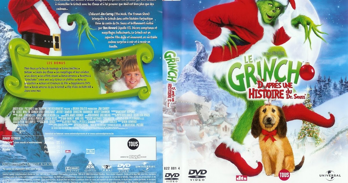 Fondos Para Pantallas De Grinch Para Navidad: Imagenes: Le Grinch Cover DVD