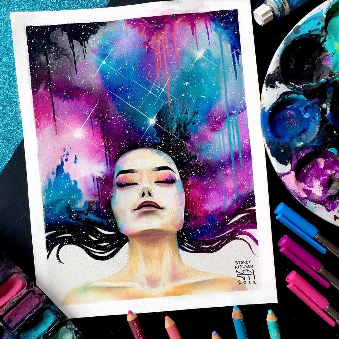 07-Galaxy-Drawing-Sydney-Nielsen-How-Colors-Change-the-Portraits-you-Draw-www-designstack-co