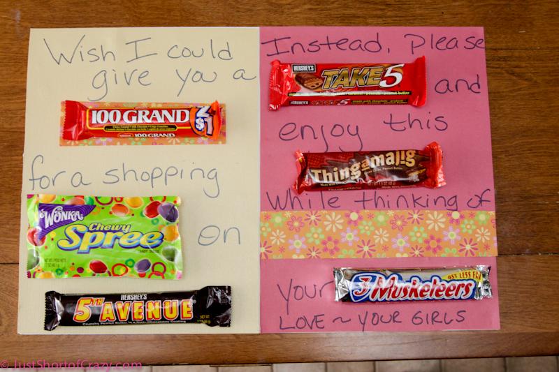 Love Poem Using Candy Bars