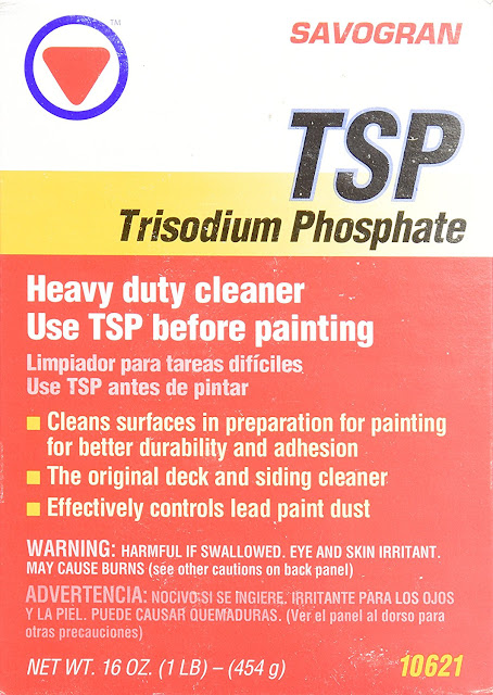 use TSP to wipe down cupboards before painting them