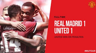 Video Cuplikan Gol Real Madrid vs Manchester United 2-3 (1-1) ICC 2017 Amerika