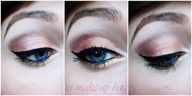 makijaż świąteczny sylwestrowy złoty