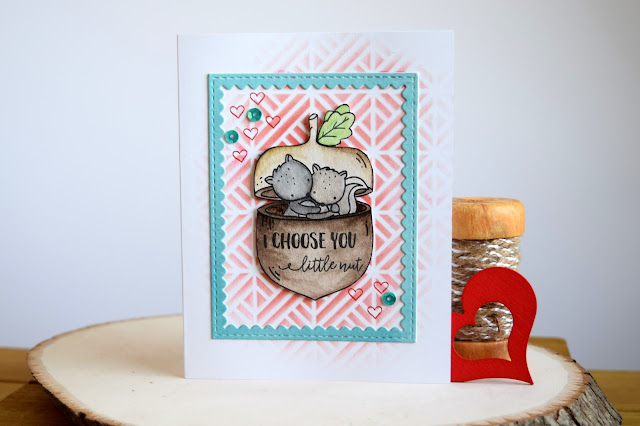 Valentine Card with Neat and Tangled Nuts about You by Jess Gerstner