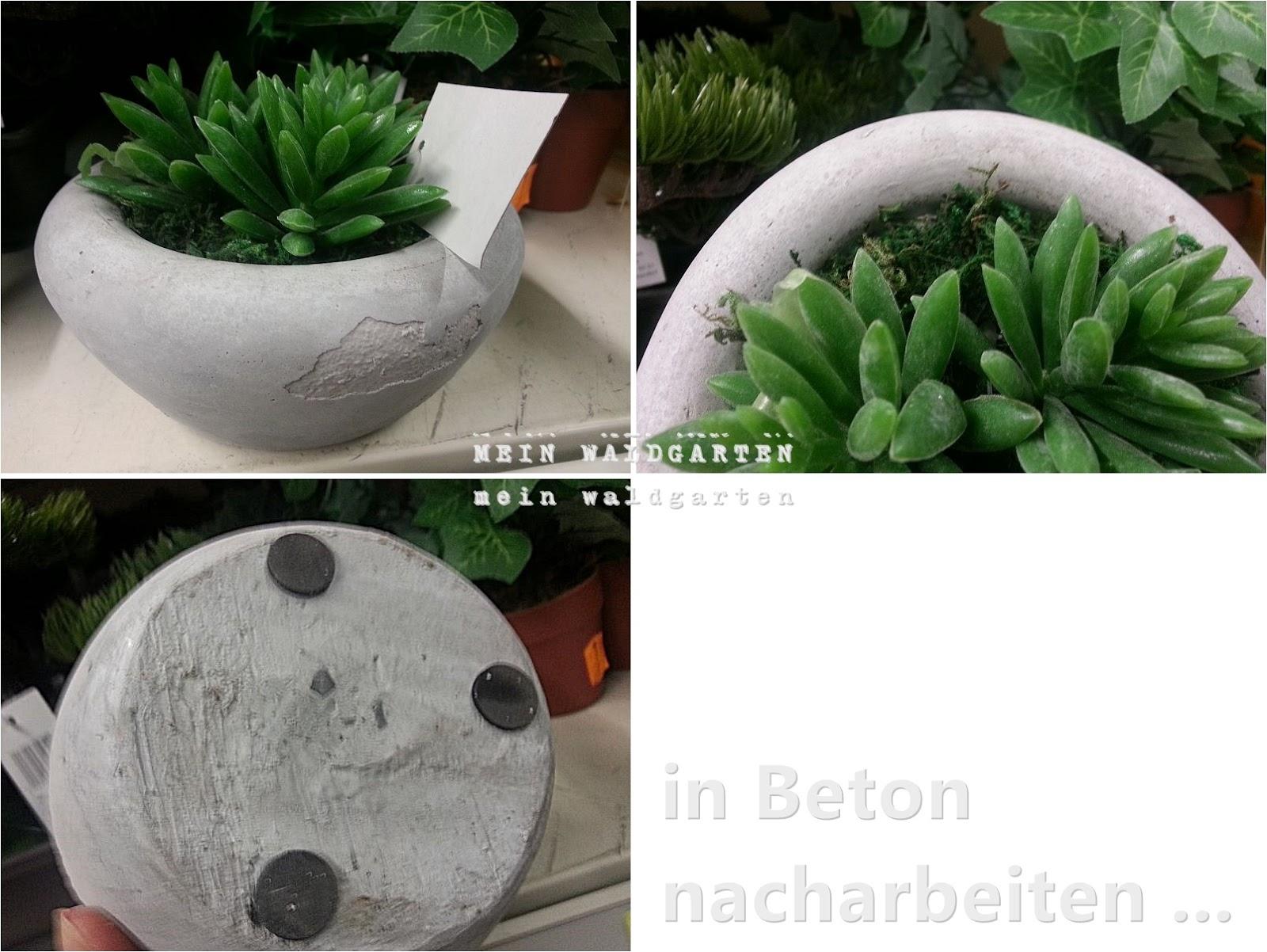 mein waldgarten: beton-gießformen für schalen - gartendeko