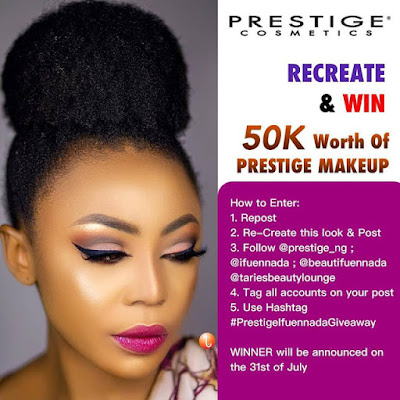 Prestige Cosmetics Recreate & Win N50K Worth of Makeup.