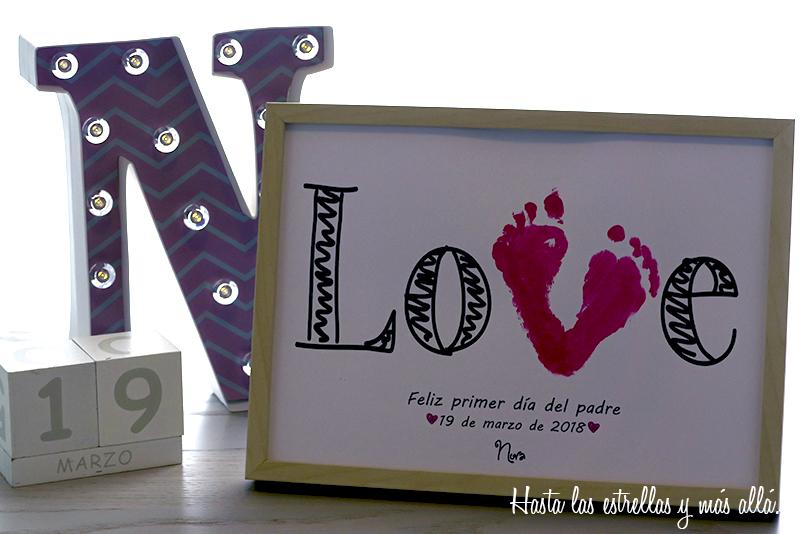 huellas pies bebe dia del padre baby footprint  fathers day