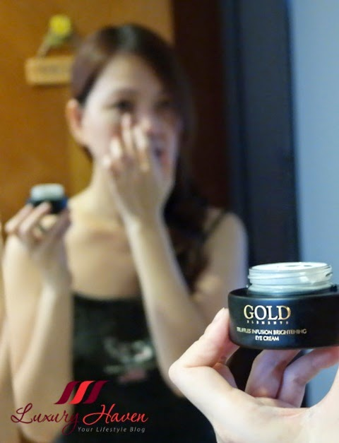 gold elements truffles infusion brightening eye cream review