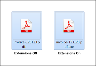 Ransomware προστασία, ενεργοποίηση προβολής επεκτάσεων