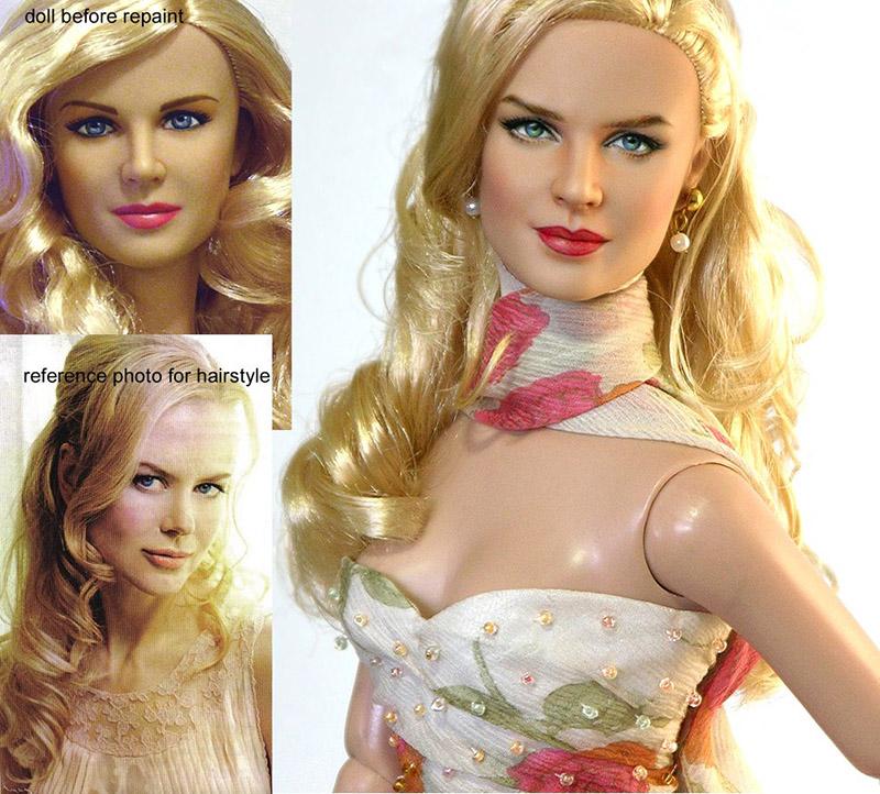 repainted Nicole Kidman Doll