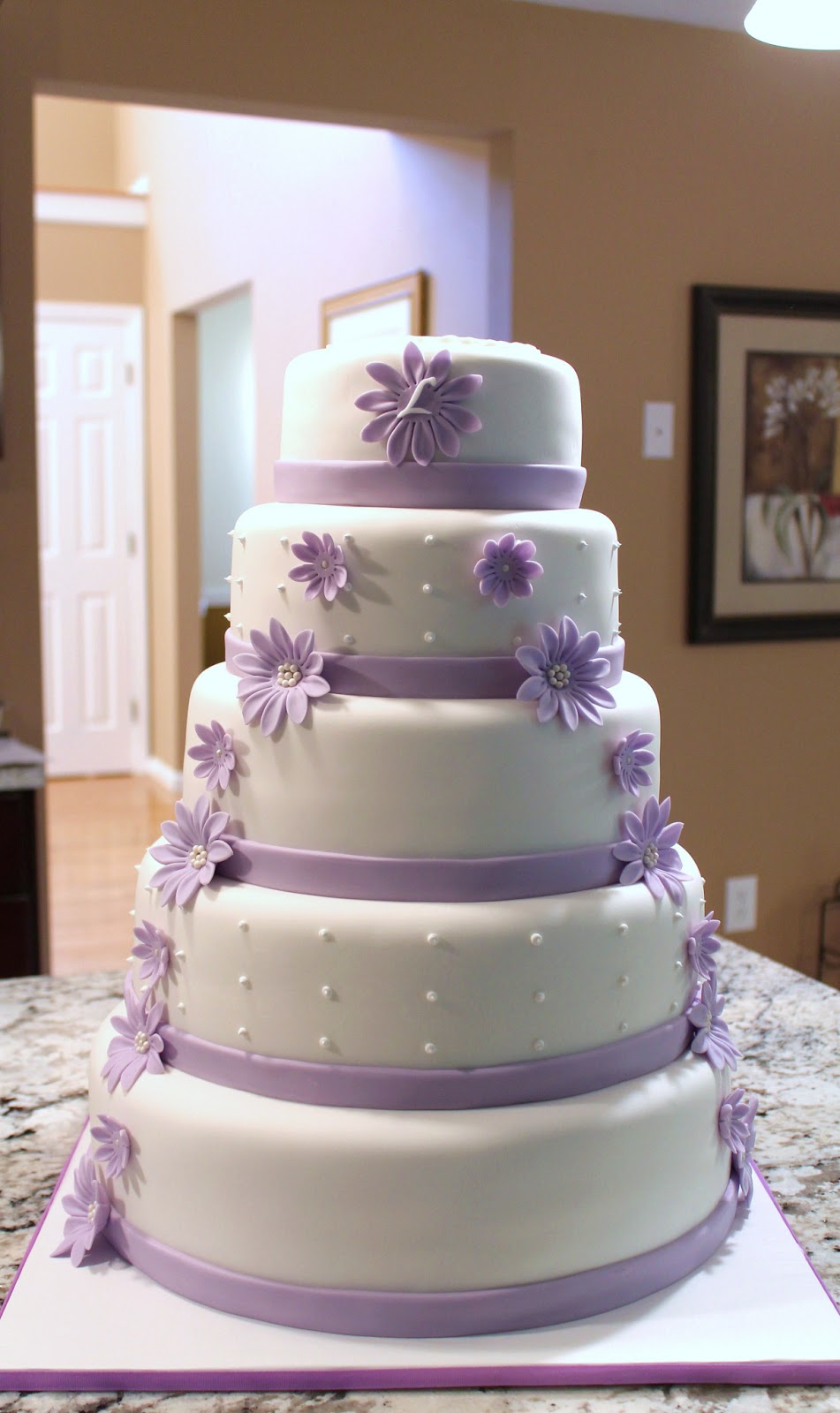 Creative Cakes by Lynn Lilac Flower Wedding Cake