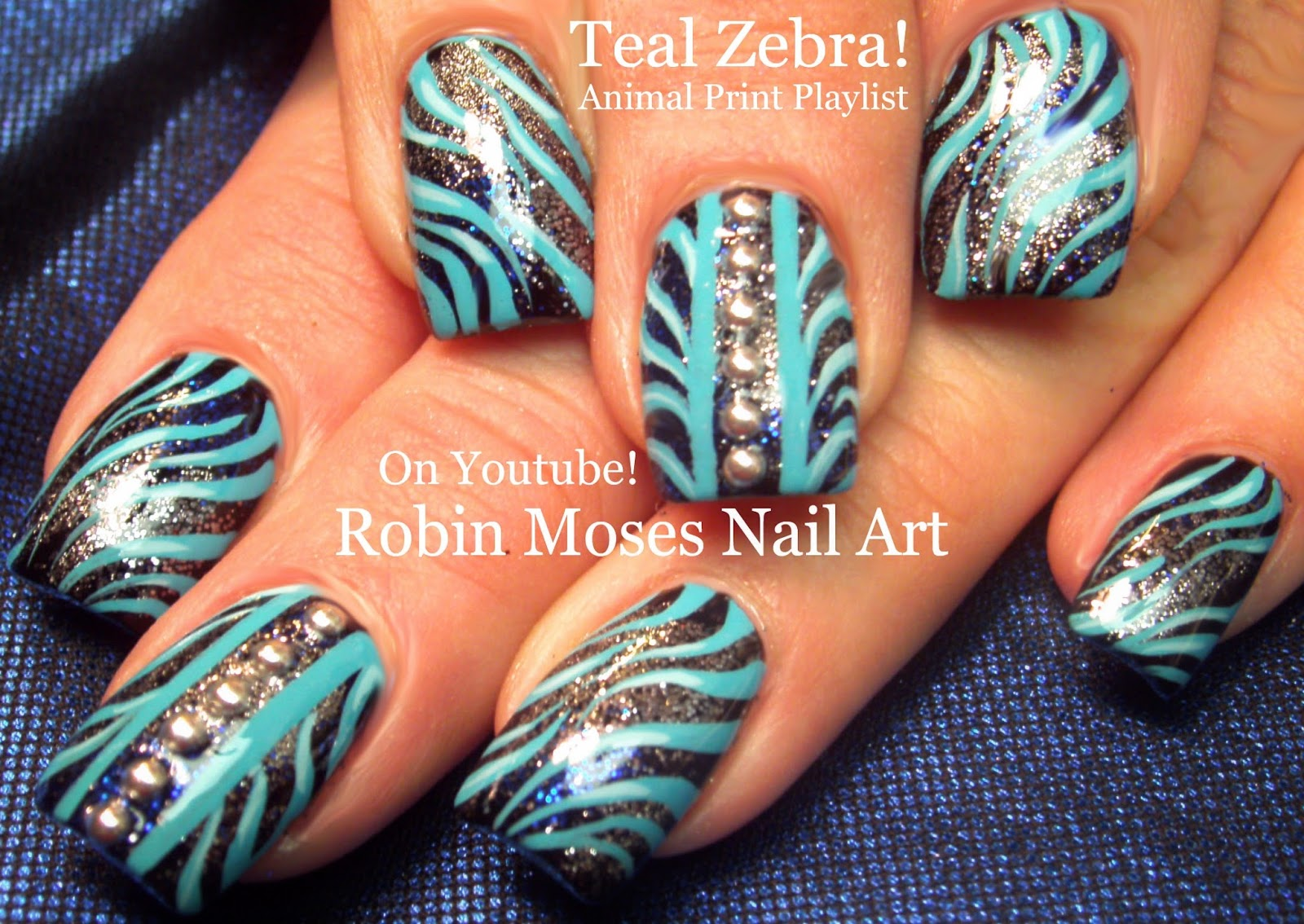 Nail Art by Robin Moses: Zebra print nails! \