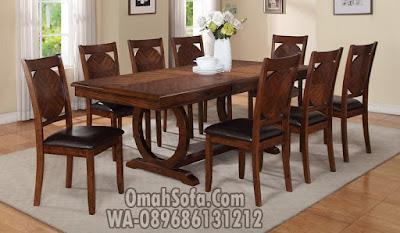 meja makan 8 kursi, set meja makan 8 kursi, set meja makan kayu jati, set meja makan minimalis, Set Meja Kursi Makan, kursi makan jati minimalis, meja makan jepara terbaru,