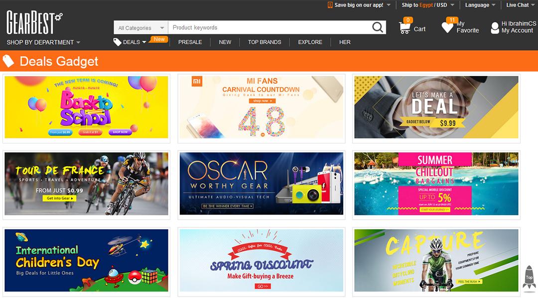 Chinese Shopping sites, موقع صينى للتسوق, موقع GearBest الصينى, موقع صينى للشراء, موقع GearBest للتسوق عبر الإنترنت