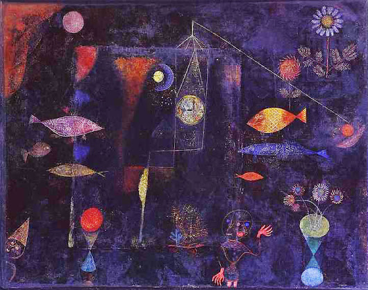 "Monday, August 21, 2017 Paul Klee's ""Magic Fish"""