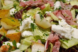 insalata roast-beef pera caprino