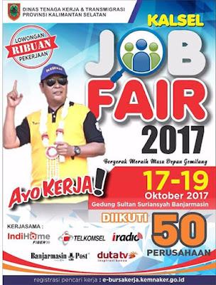 Kalsel Job Fair 2017: Dibuka Ribuan Lowongan Kerja