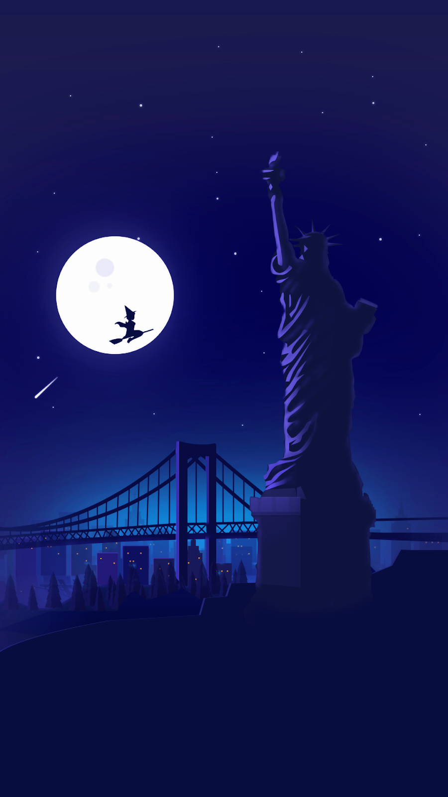 Statue of Liberty minimalist wallpaper