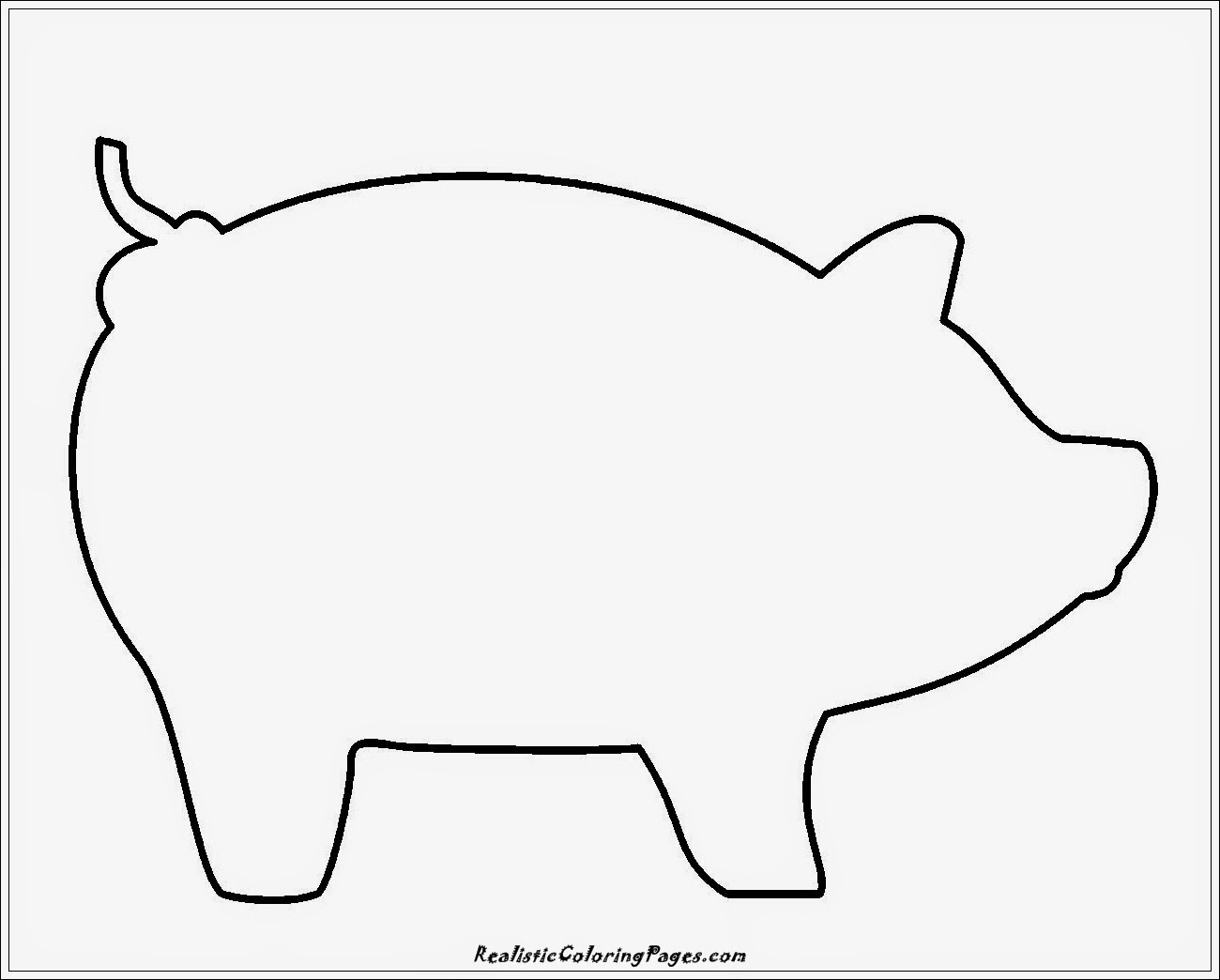simple pig coloring pages
