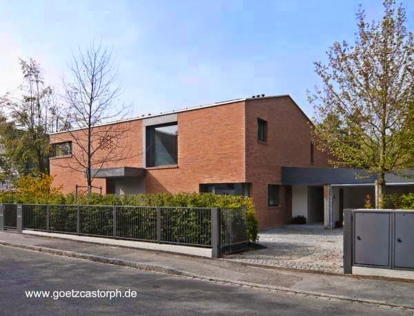 Residencia familiar contemporánea de ladrillos en Múnich