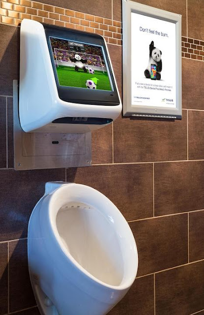 Telus Bathroom Advertisement