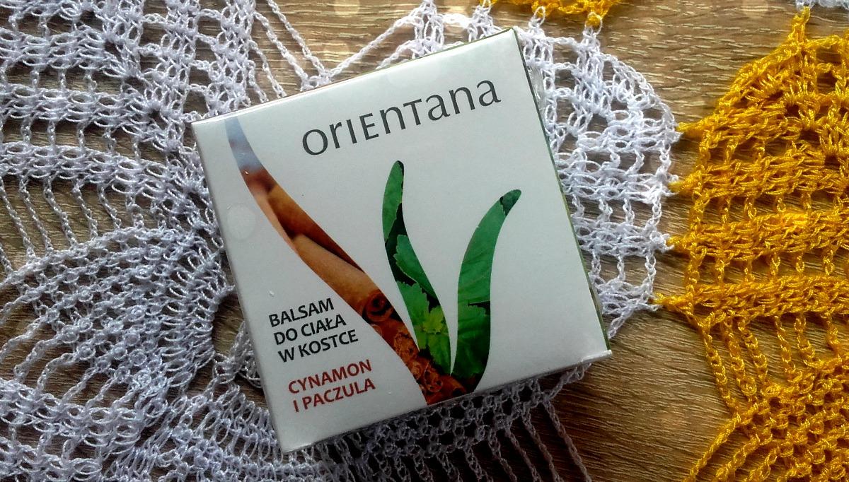 """Balsam do ciała w kostce """"cynamon i paczula"""" Orientana"""