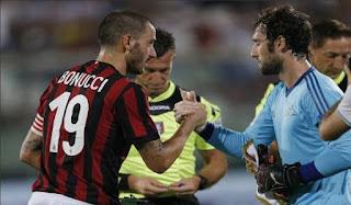 Debut Bonucci Jadi Kapten Milan