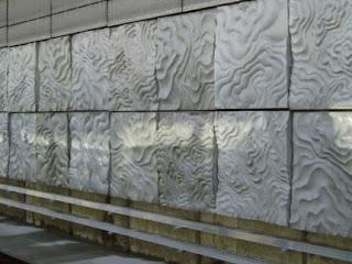 desain Concrete GRC di stasiun kereta bawah tanah Selandia Baru