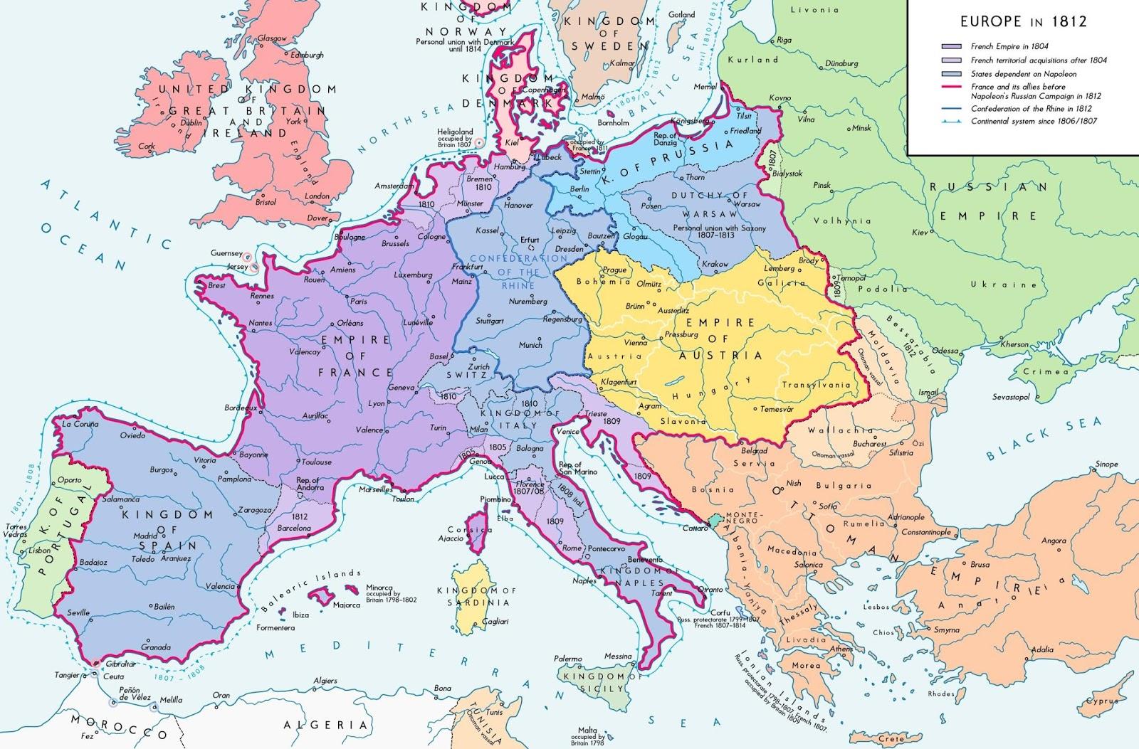 Napoleonic Europe in 1812