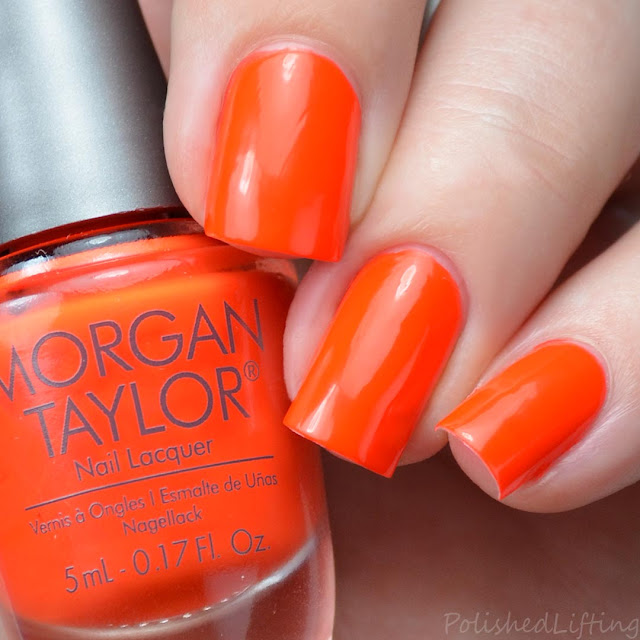 bright orange creme nail polish
