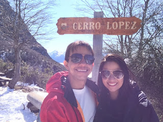 Paisagem do alto do Cerro Lopez em Bariloche