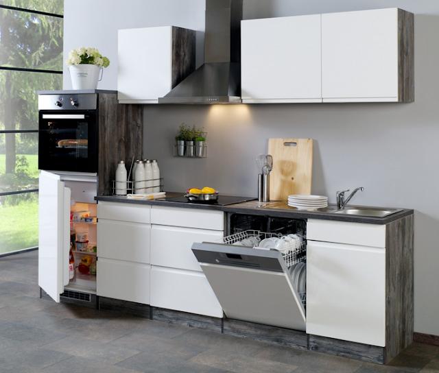 Küchenzeile 280 Cm Mit Elektrogeräten