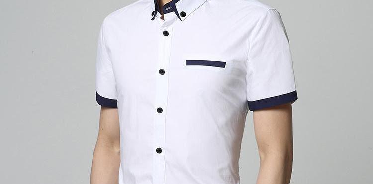 Model Baju Kemeja Pria Warna Putih