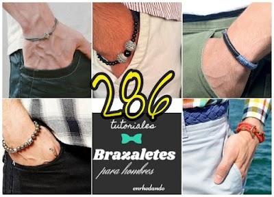 286 diys Pulseras Masculinas tendencia Unisex