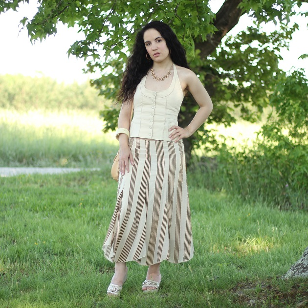 Neutral Top and Skirt