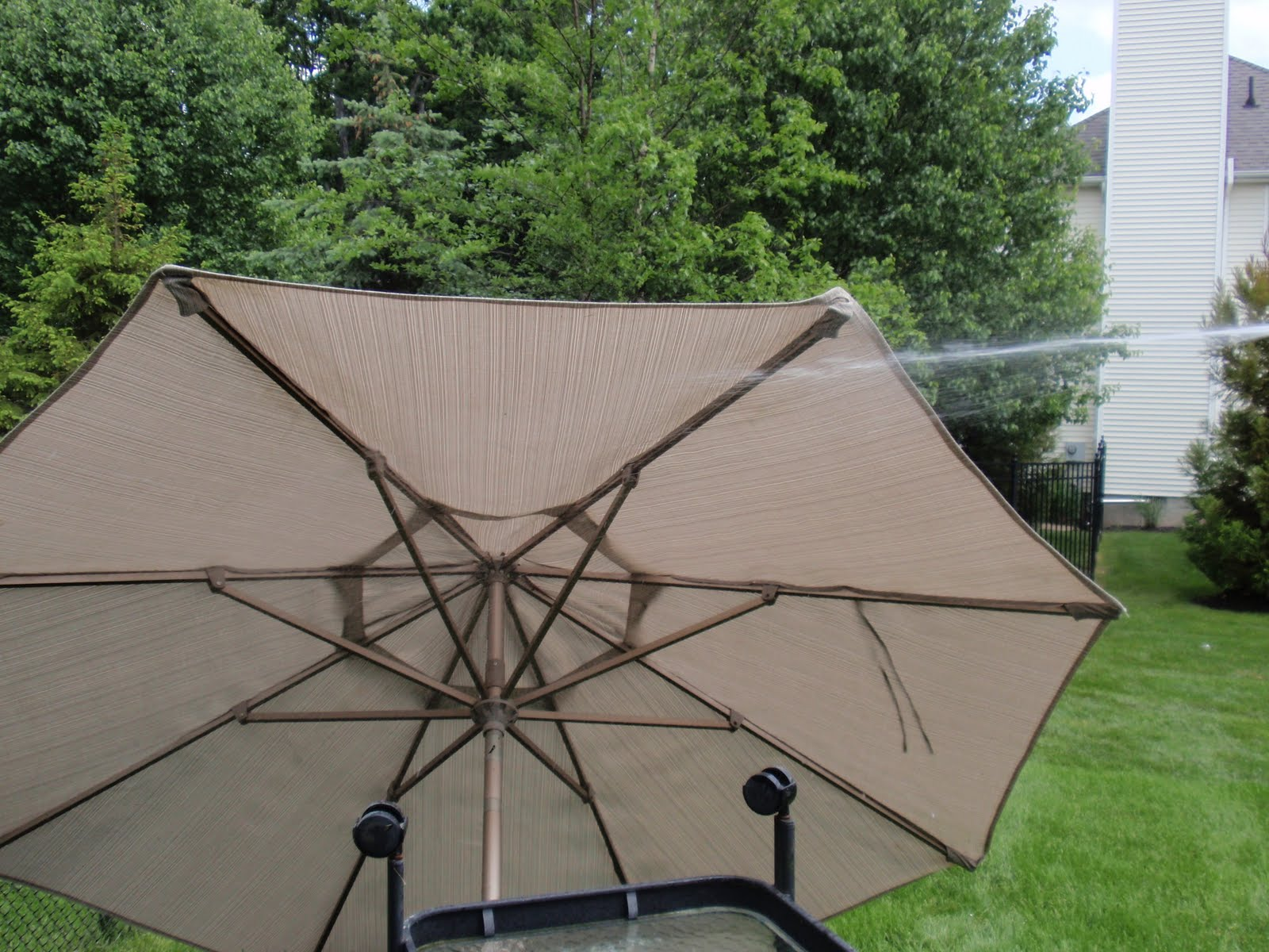 Diy By Design How To Clean Your Patio Umbrella