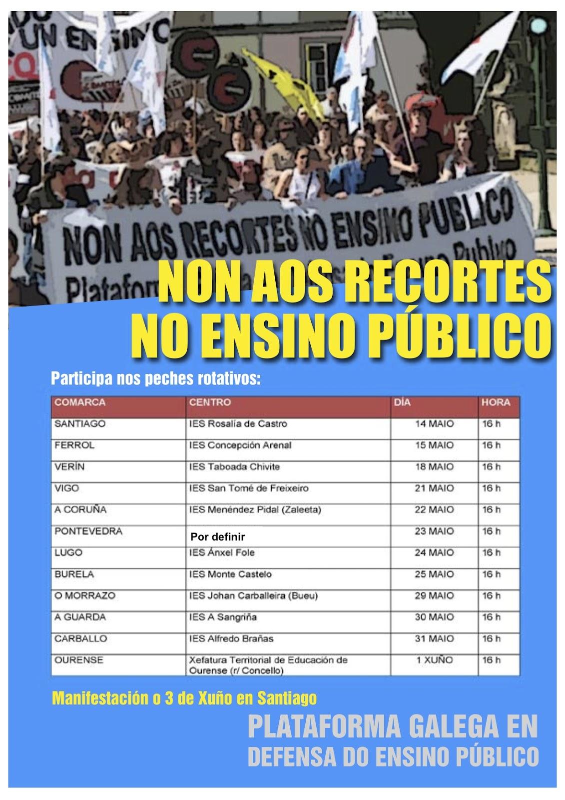 Peches da Plataforma Galega en Defensa do Ensino Público