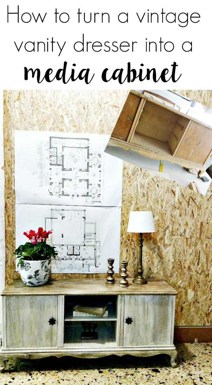 Μεταμόρφωση vintage τουαλέτας σε έπιπλο TV