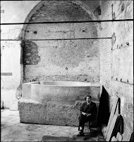 Baptismal font in the baptistery of Agia Sophia, September 1943 [Credit: © Nicholas V. Artamonoff Collection, Image Collections and Fieldwork Archives, Dumbarton Oaks]