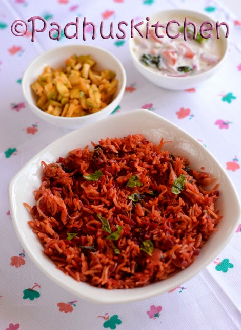 Beetroot rice healthy indian beetroot rice pulao recipe beetroot beetroot rice forumfinder Images