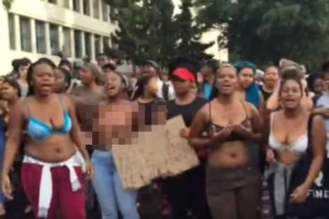 south african students naked