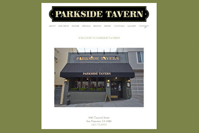 Bureau Jules web design shop in San Francisco client: Parkside Tavern in San Francisco