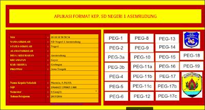Aplikasi Kepala Sekolah SD, SMP, SMA Tahun 2017/2018 Format Excel