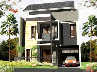 Bentuk Rumah Sederhana Tapi mewah ukuran 6x9 2 lantai