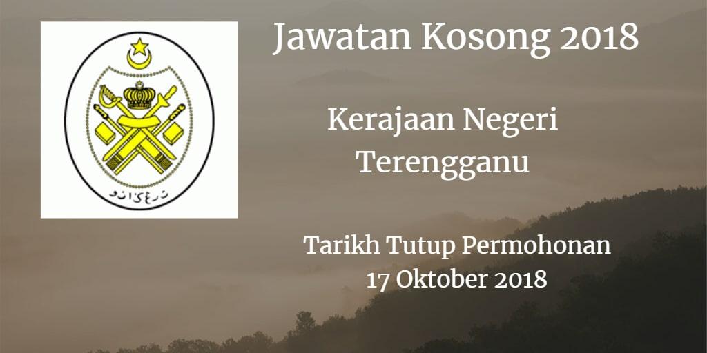 Jawatan Kosong Kerajaan Negeri Terengganu 17 Oktober 2018