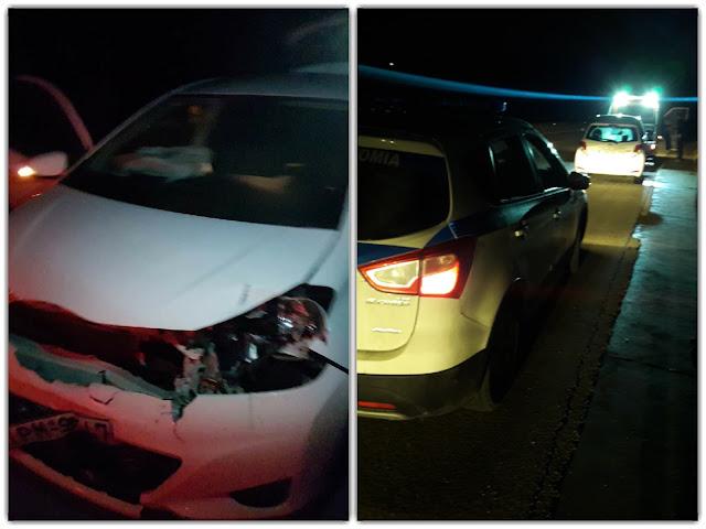 Οδηγός συγκρούστηκε με ζαρκάδι στην Εγνατία Οδό